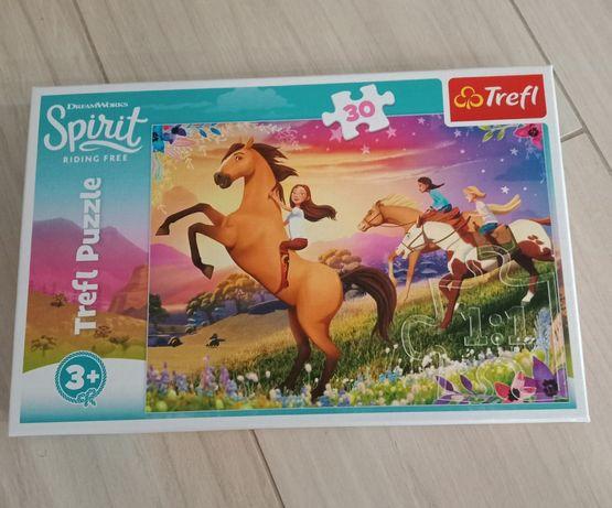 Puzzle trefl 3+  konie