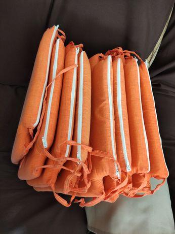8 almofadas de cadeira 37x37cm