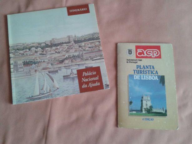 PLANTA turistica de Lisboa + Palácio Nac.da Ajuda