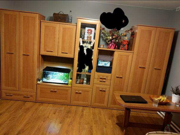 Meblościanka olcha miodowa dwie szafy stan bardzo dobry