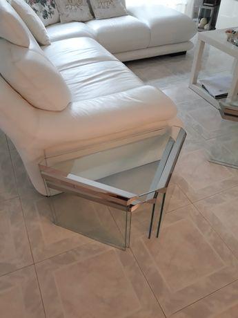 2 mesas Divani  Divani de apoio a sofá em vidro