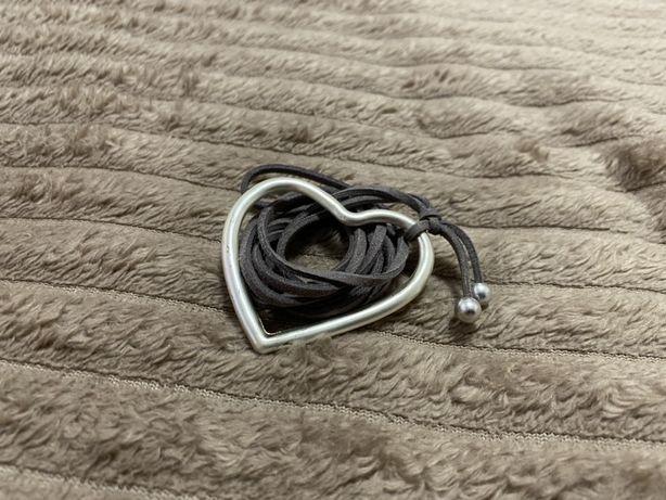 Цепочка подвеска на шею кулон сердце сердечко бижутерия украшение