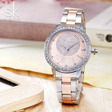 Nowy zegarek damski złoty srebrny kryształki Z010 !