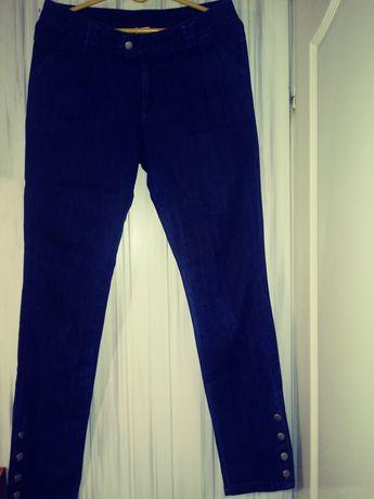 Granatowe jeansy Rozm 40