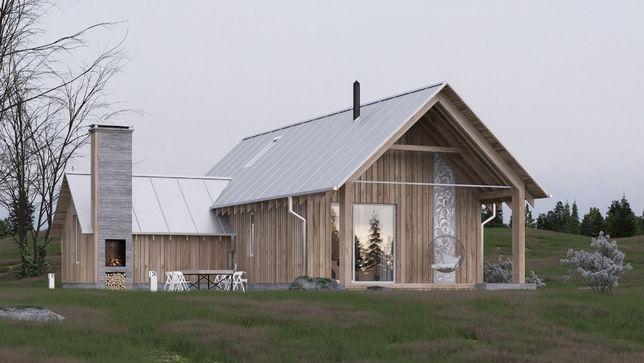 Продажа участка с проектом дома с видом на озеро в пос. Берёзовка