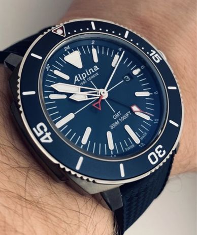 Alpina Seastrong GMT quartz diver NOWY