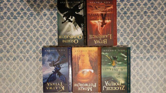 Ksiazki z serii Percy Jackson 1-5 komplet.