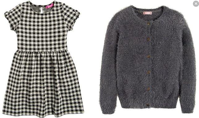 cool club komplet sukienka + sweterek + rajstopy rozm 140