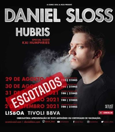 "Daniel Sloss ""Hubris"" - bilhete Lisboa - TIVOLI"