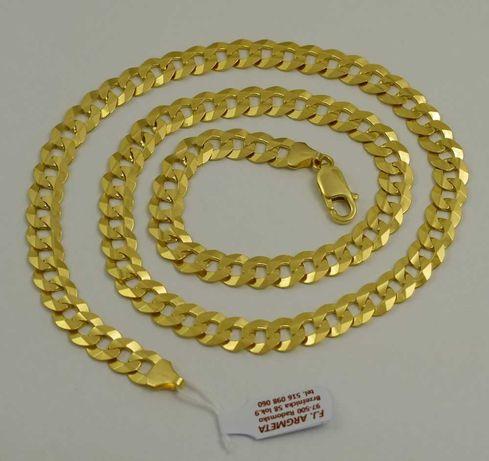 Łańcuszek złoty pr 585  8,20 szer nowy z metką