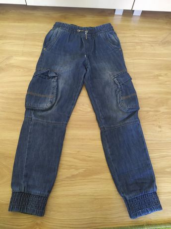 Spodnie jeansowe Cool Club bojówki dla chłopca rozmiar 140