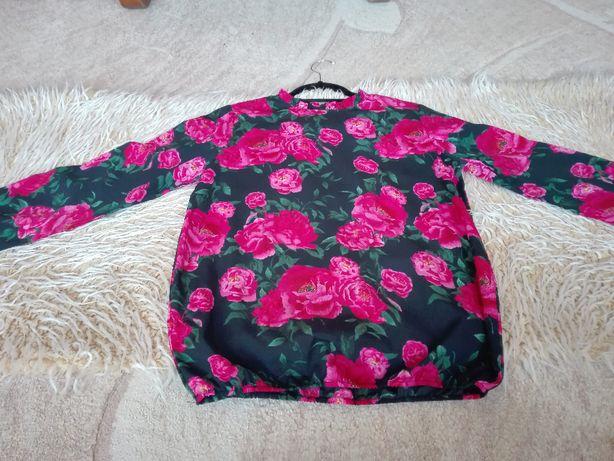 sprzedam koszulową bluzkę w kwiaty
