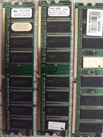 Оперативна память DDR1 256 MB х 3 модулі