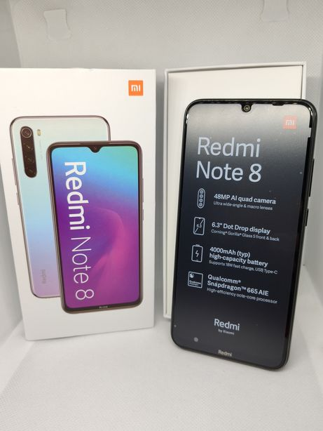 Nowy Xiaomi Redmi Note 8 4/64 Global Black MIUI GWAR