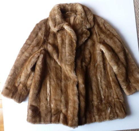 Furto futerko kożuch kożuszek płaszczyk ST MICHAEL naturalne XL 42