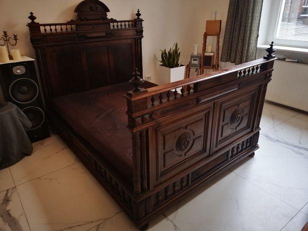 łóżko eklektyczne szafa eklektyczna komoda komplet eklektyk Antyk