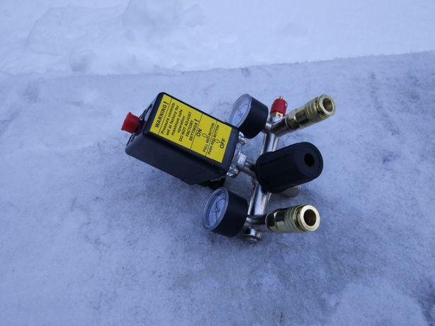 Автоматика для компресора в зборі, Прессостат, реле, 220В 16А, 10Атм.