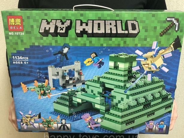 Конструктор Майнкрафт подводная крепость(lego Minecraft 21136)