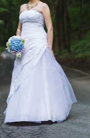 Nieziemskiej urody suknia ślubna w stlu wiktoriańskim
