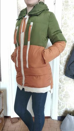 Зимняя куртка пальто пуховик женская молодежная