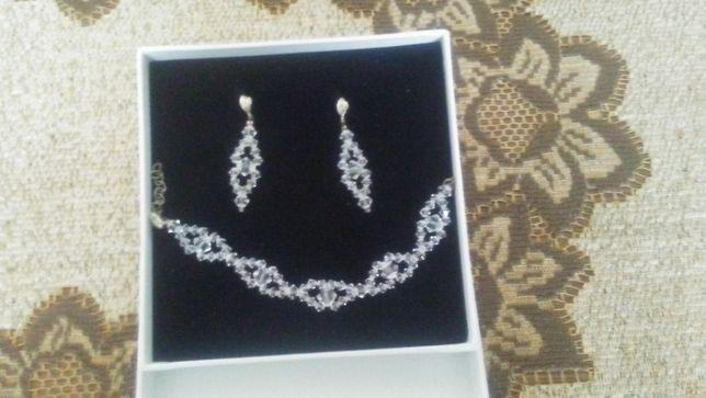 Sprzedam Komplet Ślubny Biżuterii