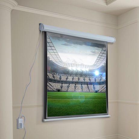 Excelentes telas profissionais projecção 2mts diagonal eléctrica