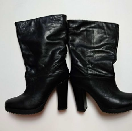 Ботинки демисезонные кожаные