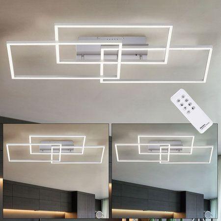 Lampa Sufitowa plafon LED-srebrna + pilot