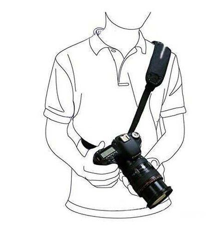 Alça ombro tipo Black Rapid para máquina fotográfica Canon Nikon Sony