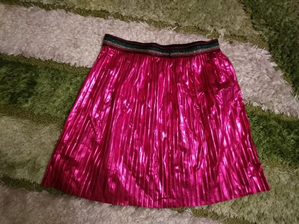Różowa plisowana spódnica dziewczęca rozm. 146