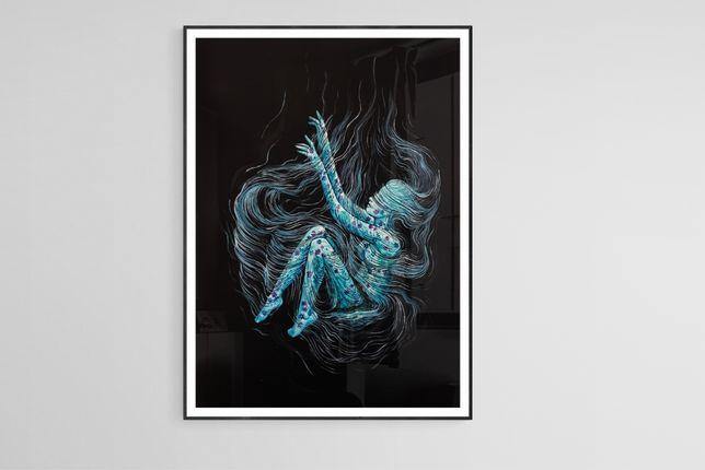 Obraz akrylowy kwiaty 42x29,7 cm werniksowany