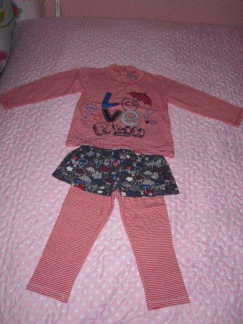 Leggings+camisola+casaco (Conjunto) Boboli, TAM 12 meses