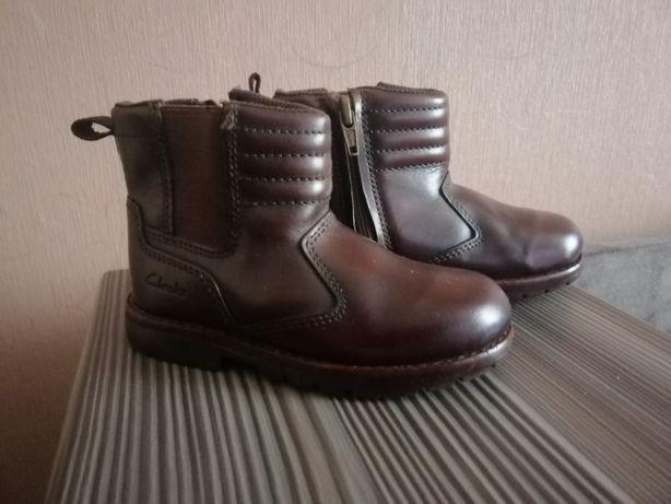 Демисезонные ботиночки Clarks, осенние весенние. Натуральная кожа.