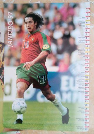 Calendário 1997 Futebol Portugal