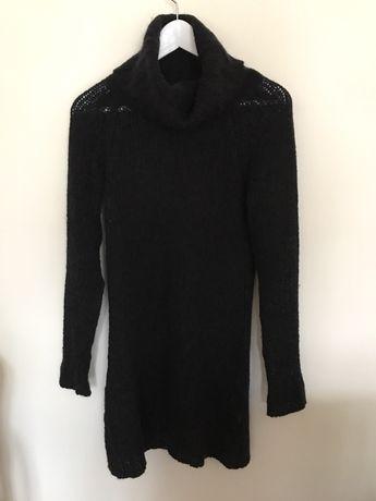 Camisola Vestido preta gola alta Zara tamanho S -M