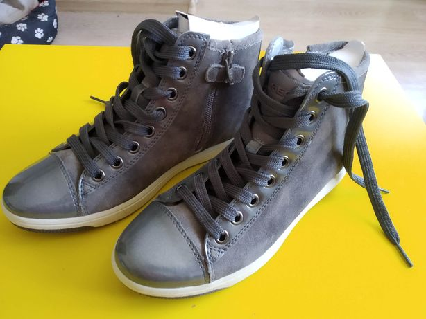 Wysokie buty Geox Creamy rozmiar 37 - nowe - sneakersy skórzane