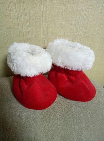 Новогодние ботиночки для дома,валенки, тапочки.