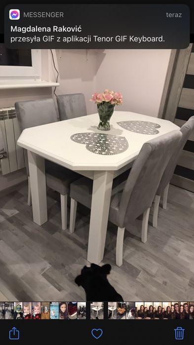 Stół drewniany bialy Olkusz - image 1