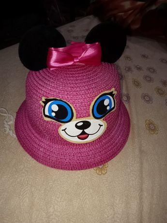 Детская красивая шляпка с котиком и ушками