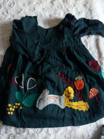 zara H&M reserved newbie 68-74 spodnie sukienka