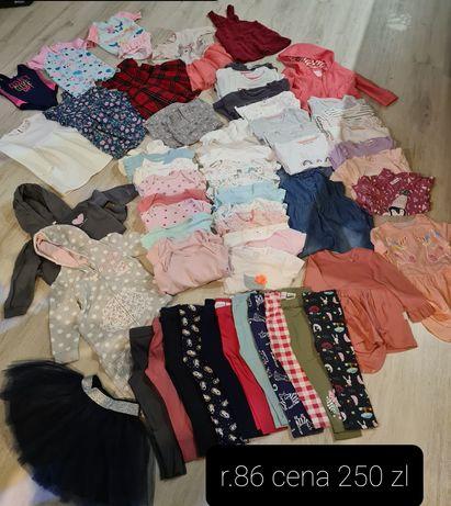 Ubranka dla dziewczynki r.86