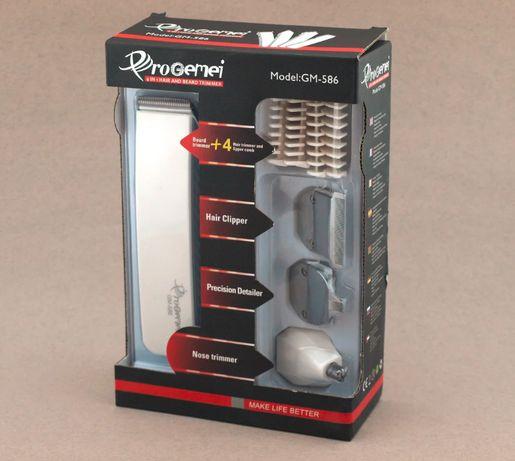 Удобный триммер для стрижки щитины, бороды волос, не щипает GM-586 4в1