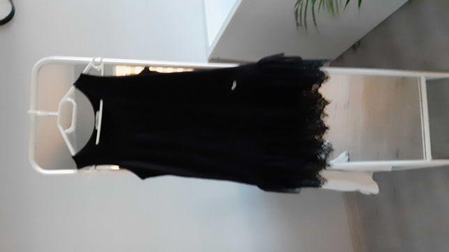 Tunika sukienka halka z koronką  by love me bawełna koronka roz M/L