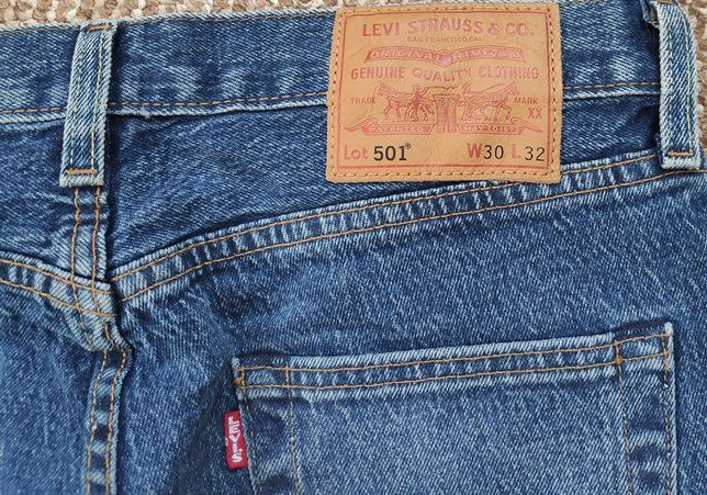 levi's 501 premium waterLess джинсы W30 L32 оригинал