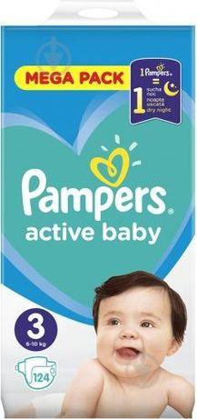 памперсы Подгузники Pampers Active Baby и Active Baby Dry 3ка