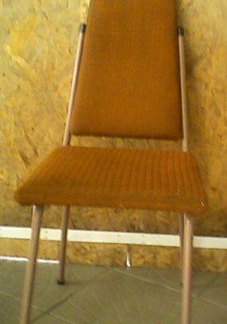 Krzesło tapicerowane metalowe lata 60-70-te.