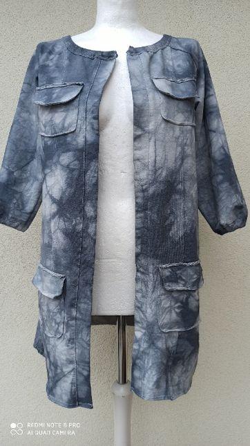 NOWE narzutka, płaszcz marmurek bawełna TS COLLECTION S,M