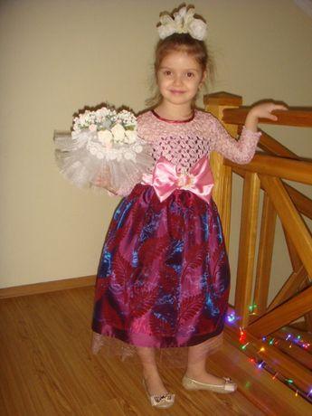 Красивое нарядное выпускное платье на праздник рост 116/120