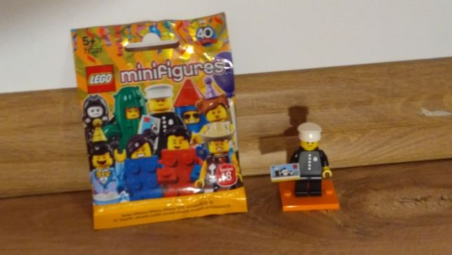 Lego minifigures seria 18 Policjant unikat! Nowy! Gratis karty!