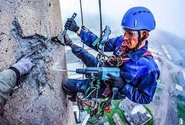Услуги Альпиниста Высотные работы Утепление Герметизация Швов Козырька